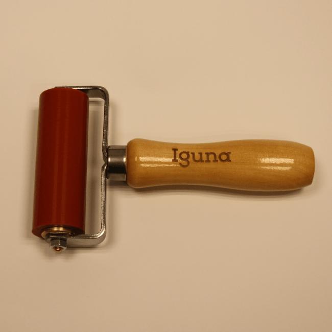 IGUNA Aandrukrol Siliconen rubber gelagerd 80 mm breed