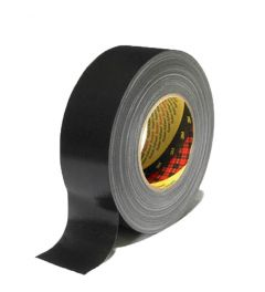 3M 389 PE Linnen / duct Tape Zwart 75 mm X 50 m