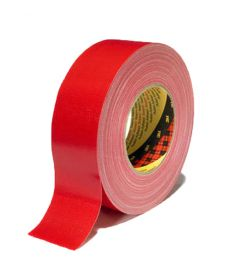 3M 389 PE Linnen / duct Tape Rood 25 mm X 50 m